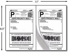 "200 Premium Self Adhesive Shipping Labels 8.5""x5.5"" 8.5""x11"" 100 Sheets Sticky"