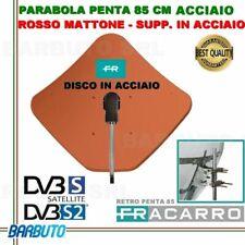 PARABOLA 85 CM IN ACCIAIO PENTA FRACARRO ROSSA MATTONE SUPP POST. ACCIAIO 211207