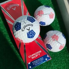 CALLAWAY CHROME SOFT TRUVIS STARS AND STRIPES Golf Balls - NEW 3-ball sleeve