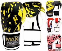 MAX Punch Boxing Gloves MMA Martial Arts Kick Training Mitts Sparring Fight Pads