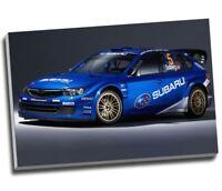 "Rally Car WRC Subaru Impreza WRX Canvas Print Wall Art 30x20"" A1"