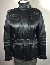 "Authentic Belstaff Womens ""RS2 JACKET"" EU 42 Black Leather Trim Made In Italy"