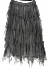 FABULOUS GERMAN MOONSHINE LAGENLOOK TULLE SKIRT L/XL CHARCOAL GREY  SALE