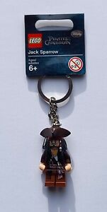 LEGO Captain Jack Sparrow Keyring - Pirates of the Caribbean 853187 (Retired)
