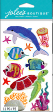 JOLEE'S BOUTIQUE DIMENSIONAL LARGE STICKERS ~FELT SEA LIFE