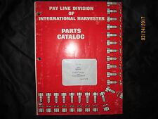 IH International Model 500C Payline Crawler Tractor Parts Catalog Manual 1974