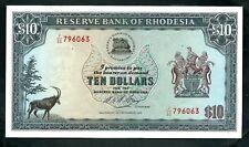 More details for rhodesia (p33h) 10 dollars 1975 wmk c rhodes xf