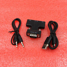 HDMI Female to VGA Male Converter+Audio Adapter Cable 1080P Signal Output Black