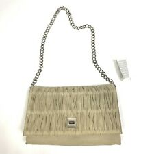 Sisley Purse Bag Tan Chain Hobo Casual New Career Festival Shoulder