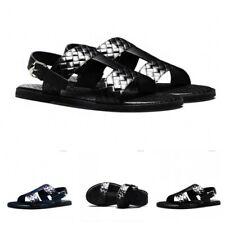 Mens Slip On Slippers Buckle Open Toe Summer Wear Resist Beach Sandals Outdoor