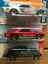 3 lot hot wheels 1967 chevelle ss muscle mania , flames , racing