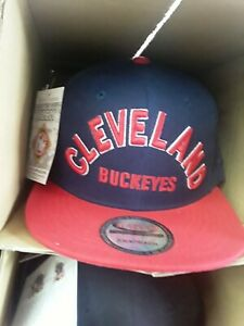 Negro league Cleveland Buckeyes red and  dark blue snapback baseball cap