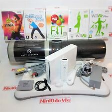 Wii Console Bundle Starter Fitness Set =Fit Balance Board+Games +1 Year warranty
