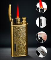 Vintage Cigar Torch Lighter Jet Gas Butane Collectable Windproof Lighters