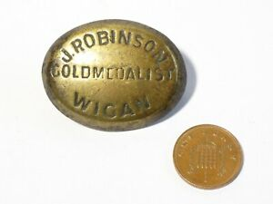 Antique J. Robinson Gold Medallist Wigan Horse Brass MAKER  #20