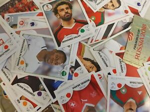 NEW Panini World Cup 2018  STICKERS      Finish your Album 30s 50s, 75s