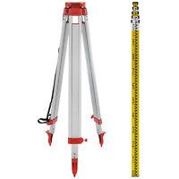 Set 1.65M Treppiede + 5M Righello per Livella Laser Rotante Autolivellante
