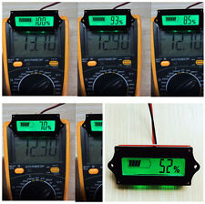 1pcs LCD Battery Capacity 12V Tester Indicator For Lead-acid Lithium LiPo Check