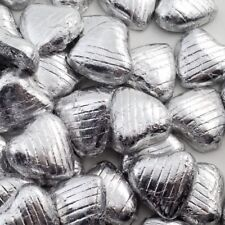 Silver Foil Chocolate Love Hearts Wedding Favours X30