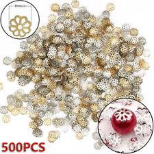 Wholesale Lots 500pcs Silver Gold Plated Metal Flower Bead Caps 6mm Findings /hi