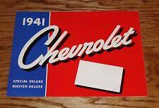 1941 Chevrolet Full Line Deluxe Sales Brochure 41 Chevy