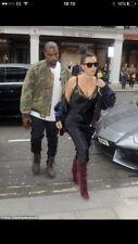 Andrew Symonds 4 m&s Kim Kardashian Style Soie Slip Robe Taille 12/14 plus veste
