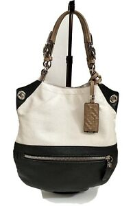 ORYANY Sydney Hobo Pebble Leather Color Block Tote Bag Purse- Retails $270