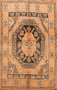 Antique Authentic Moroccan Vegetable Dye Hand-knotted Area Rug 6x9 CLEARANCE