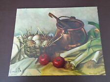 """Vintage Henk Bos """"Still Life"""" Lithograph"""