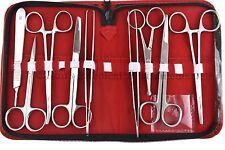 Professionnelle Dissection Trousse chirurgicale anatomie set médical de base base de 9 pieces