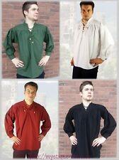 Landlord Medieval Shirt Laced Up Pirate Reenactment SCA Renaissance Knight Linen