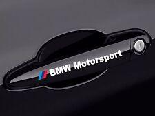 2x BMW Motorsport door handle white decal sticker logo  E60 E90 E46 E39