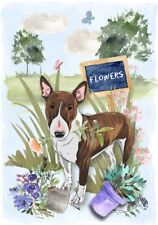 "Bull Terrier Dog (4"" x 6"") Blank Card / Notelet Design By Starprint"