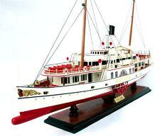 "Stadt Luzern Paddle Steam Boat Handmade Wooden Ship Model 29"""