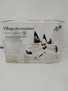 Dept 56 Village Accessories Animated Snowball Fight No. 4020242