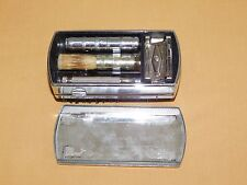 VINTAGE THE WEEKENDER CLOTHES  BRUSH SHAVING GILLETTE RAZOR COMBO SET