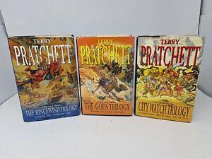 The Rincewind, Gods & City Watch Trilogy Omnibus Hard Backs Terry Pratchett