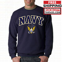 US NAVY LOGO CREW NECK United States Crest USNAVY Military USN Sweatshirt USA