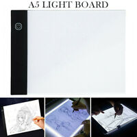 A5 LED Light Box Pad Drawing Tracing Copy Board Graphic Painting Tool Slim UK