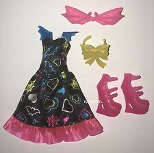 Monster High Electrified Draculaura Fashion Doll Outfit Clothes Dress Shoes NEW