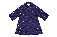 KENZO H&M HM PATTERNED SILK MULTI COLOR PRINT MULTI COLOR BLUE DRESS SIZE 2