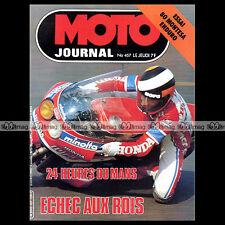 MOTO JOURNAL N°457 CHALLENGE HONDA CB 400 N MARC FONTAN 24 HEURES DU MANS 1980