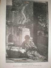 The Baby's Lullaby Lawrence Alma Tadema 1885 print