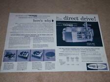 Thorens Turntable Motor Ad,1956,2 pgs,CD-43,CBA-83,Cb33