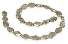 16X10MM PALAZZO IRON PYRITE GEMSTONE FACETED DIAMOND BICONE LOOSE BEADS 7.5""