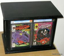 Big Cgc Frame & Display Case + Custom Comic storage.Holds 43 books! 99% Uv glass