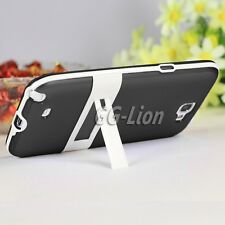 For Samsung Galaxy Note 2,Note ii,N7100 TPU Gel Black Case Skin Cover with Stand