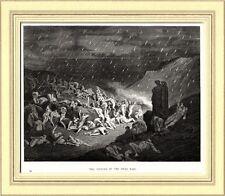 Inferno: Pioggia di Fuoco nel Girone dei Violenti. Dante. Divina Commedia. 1890