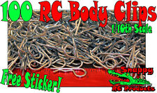 100 RC BODY CLIPS PINS For 1/10 SCALE Car Truck Buggy Boat Crawler Short Course