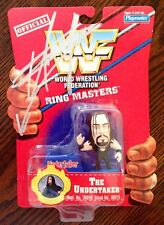 The Undertaker Signed WWE WWF Ring Masters Figure Toy PSA/DNA COA